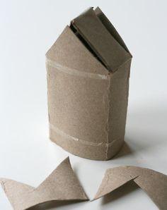 DIY : Maisonnette en carton | La cabane à idées School Holiday Activities, Crafts For Kids, Arts And Crafts, Toilet Paper Roll, School Holidays, Diy, Design, Clothes, Recycling