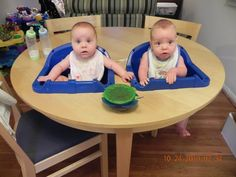 The Workmans: The Ultimate Twin High Chair .... I think I need this table definitely!