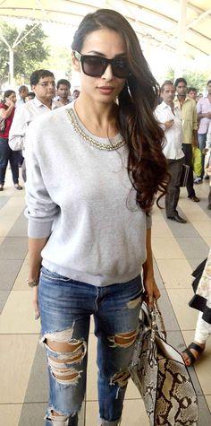 Malaika Arora Khan at Mumbai airport.