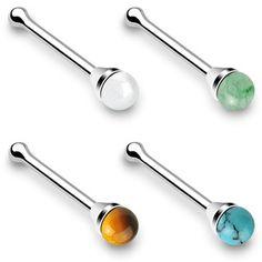 1pc 20g 18g Plain Ball Solid G23 Titanium Screws Nose Ring Twist Nostril Stud