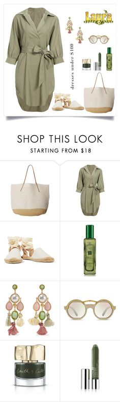 """Laura"" by tato-eleni ❤ liked on Polyvore featuring Hat Attack, Soludos, Jo Malone, Ben-Amun, Smith & Cult and Clinique"