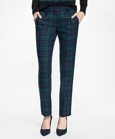 """<a href=""""#pdplearnmore"""" class=""""lm"""">The Red Fleece Collection</a><br>Featuring a sleek tuxedo stripe at the side panels, these wool-blend pants have a seasonal Black Watch pattern, two slant pockets and two back welt pockets.<br><br>32"""" inseam; dry-clean only; imported."""