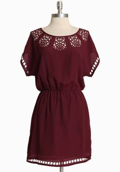 "Paper Birch Cutout Dress In Berry 42.99 at shopruche.com. Effortlessly chic, this silky purple dress is polished with cutout details, a cinched elasticized waistline, and a hint of sheen. Lightweight. Lined skirt.  100% Polyester,  Imported ,  34"" length from top of shoulder"