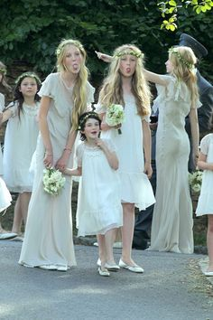 """kate moss wedding party ...getting """"cheeky"""" with the paparazzi :-)... via ~suicideblonde"""