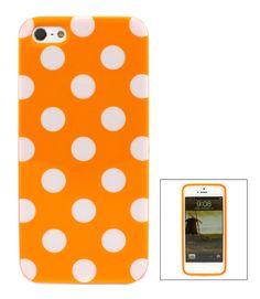 Tangerine Polka Dot iPhone Case.