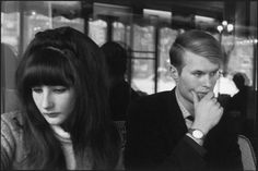 French writer Jean-Marie Le Clezio and his wife. Paris. 1965.
