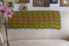 Free chevron #crochet blanket pattern from Melody's Makings