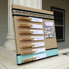 Burlap Weekly Meal Planner by MagnoliaLeaves on Etsy, $35.00