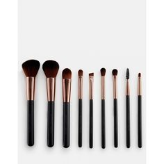 Nude by Nature Brush Set (260 SAR) ❤ liked on Polyvore featuring beauty products, makeup, makeup tools, makeup brushes, clear, makeup blending brush, blender brush, toiletry bag, make up bag and cosmetic purse