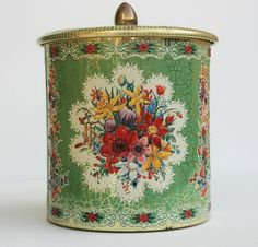 'Floral Tin Canister'