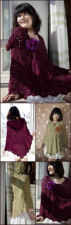 50 Free Crochet Poncho Patterns for All - Page 4 of 9 - DIY & Crafts