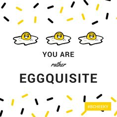 You are rather eggquisite | Funny | Punny | www.bCheekyApp.com