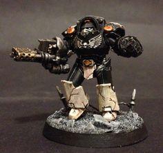 40k - Mortifactors Terminator with Heavy Flamer by John Ashton