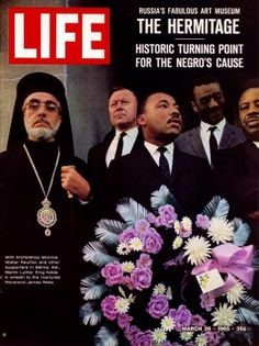 One of the most famous images of Martin Luther King Jr. was featured on the cover of the March 26, 1965 issue of LIFE Magazine with Greek Orthodox Archbishop Iakovos standing by his side.