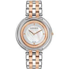 Versace Women's Swiss Thea Two-Tone Stainless Steel Bracelet Watch 39mm VA711 0014