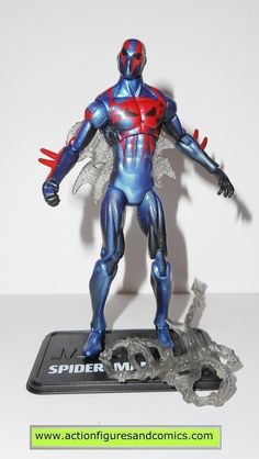 marvel universe SPIDER-MAN 2099 complete hasbro toys action figures