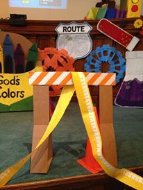 Close up of decorations.. Welcome to WOW! First Presbyterian in Sterling www.cokesburyvbs.com Vbs Crafts, Halloween Crafts, Crafts For Kids, Gadgets And Gizmos Vbs, Vbs 2016, 2017 Vbs, Maker Fun Factory Vbs, Holiday Program, Construction Theme