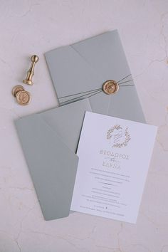 Beautiful chic autumn wedding in Cyprus │ Elena & Theodoros - Mountain Wedding Invitations, Wedding Invitation Envelopes, Unique Wedding Invitations, Invitation Card Design, Wedding Stationary, Wedding Invitation Inspiration, Wedding Mood Board, Wedding Cards, Marie