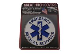 6034 EMS Hitch Cover Chicago Fire Department and Chicago Police Department gifts.