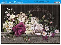 Litoarte Decoupage Vintage, Decoupage Paper, Flower Silhouette, Best Background Images, Arte Popular, Ceramic Flowers, 3d Paper, Vintage Cards, Vintage Prints