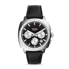Haywood Chronograph Black Leather Watch