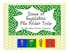 Print, laminate, and velcro these pieces to make it easy for you to track and help students monitor their behavior and breaks using the Zones of Regulation program.   See preview to see the finished product.