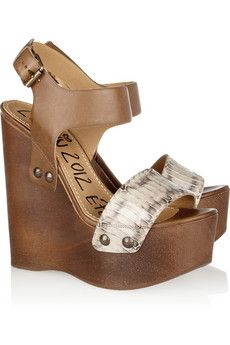 Lavin Watersnake and leather wooden wedge sandals have me over the edge, literally...dying to purchase for summer.