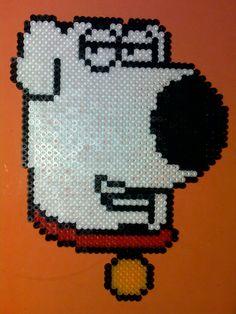 Family Guy Brian hama beads by cristina moran