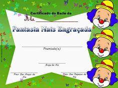 As Tontas Vão Ao Céu: Certificados para Baile à Fantasia da O.R.M.