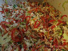 Ζουζουνομαγειρέματα: Τουρσί Ουγγαρέζα σαλάτα! Salad Dressing, Cabbage, Flora, Vegan, Vegetables, Cooking, Ethnic Recipes, Salads, Dressings
