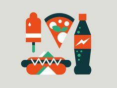 Fast Food by Marco Goran Romano on dribbble