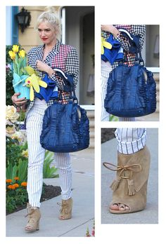 Gwen Stefani has her hands full!  I love her shoes
