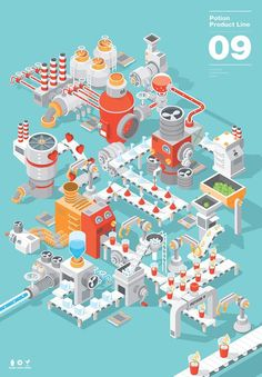 Best Illustration Potion 09 Vector images on Designspiration Design Sites, Bg Design, Game Design, Isometric Art, Isometric Design, Design Graphique, Art Graphique, 3d Modellierung, Graphic Design Illustration
