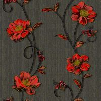 Tapet DEGRETS 1260 hartie Demi negru-rosu sizes 0.53m x 10.05m = 5.3 mp