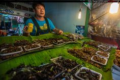 Smażone robaki – jedzenie w Tajlandii