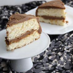 Vanilla-Espresso Chiffon Layer Cake - it's like Starbucks, in cake form!