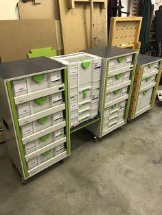 Systainer Festool, Festool Tools, Truck Storage, Tool Storage, Storage Systems, Workshop Storage, Garage Workshop, Home Tools, Diy Tools