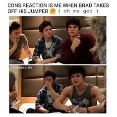 Not very good quality vut thank you whoever put this up...Brad's arms OMG <<< ME AF