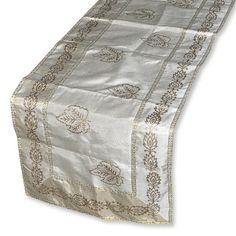 Off White Table Cloth Handmade Printed