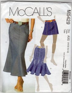Womens Western Skirt Pattern  Size 4 6 8 10 12  by JeaniesShop