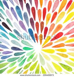 Vector watercolor colorful abstract background. Collection of paint splash watercolor drops. Vector set of brush strokes. Isolated on white background - stock vector
