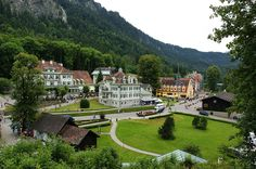View of the village of Schwangau on your Germany Cycling tour. Photo via Wikimedia Commons: Allie Caulfield