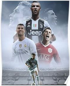 Cristiano Ronaldo: Sporting, Manchester United, Real Madrid & Juventus F. C. Poster