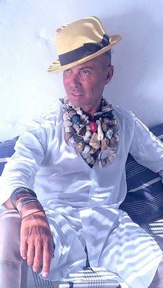Kondylatos summer jewellery featured @ Real News  Real Life Magazine # 294 -  6/07/14 Lakis Gavalas wears Pericles Kondylatos jewellery