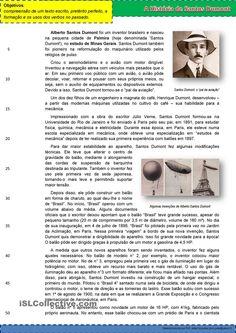 A História de Santos Dumont - inventor brasileiro. apostilas - Apostilas de português gratuitas