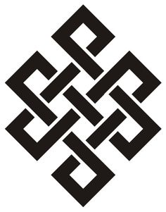also called infinity knot or endless knot. Body Art Tattoos, Tatoos, Tibetan Tattoo, Ancient Symbols, Buddhist Symbols, Celtic Designs, Symbolic Tattoos, Geometric Designs, Sacred Geometry