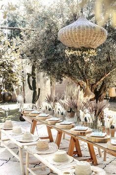 Bohemian wedding in Marrakech - Decoration For Home Boho Wedding, Wedding Table, Summer Wedding, Wedding Ceremony, Wedding Day, Moroccan Wedding Theme, Wedding Notes, Marrakech, Bodas Boho Chic