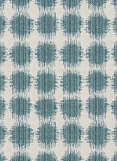 "Sabine 220 Seagrass - Jennifer Adams Home Fabric - Jacquard ikat dot fabric. Beautiful fabric for window treatments, furniture upholstery or top of the bed. Content; 58% cotton / 42% poly. Repeat; V 3.75"" x H 3.5"". 54"" wide. Durable 35,000 double rubs. Please note; 10 Yard minimum."