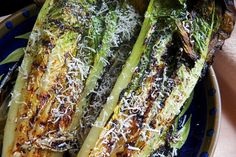 Grilling lettuce makes for a still-crunchy, flavorful side dish and a balsamic vinaigrette dressing adds a bit of tangy sweetness.