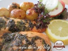 Salmão no Forno com Manteiga de Ervas